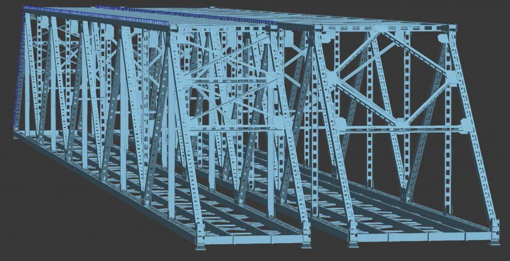 3d модель моста