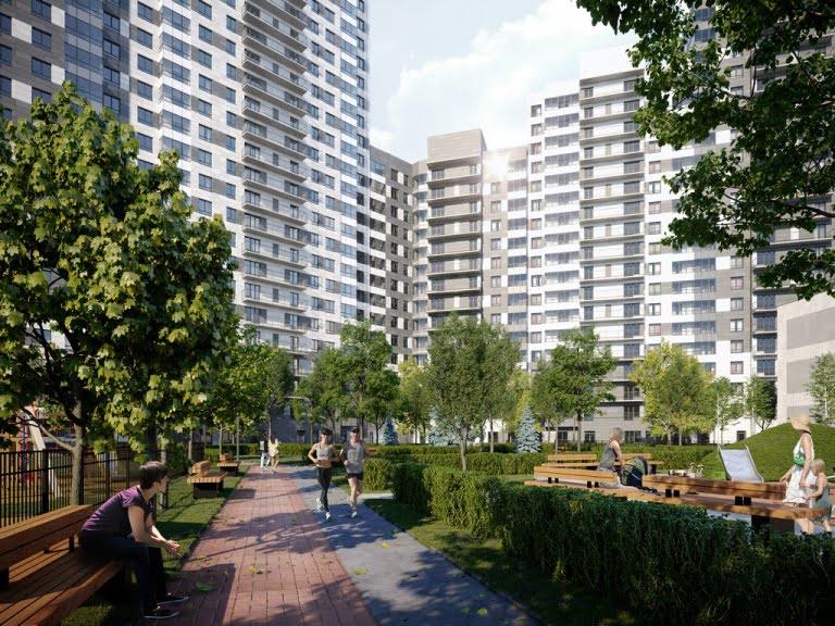 3d визуализация большого жилого комплекса