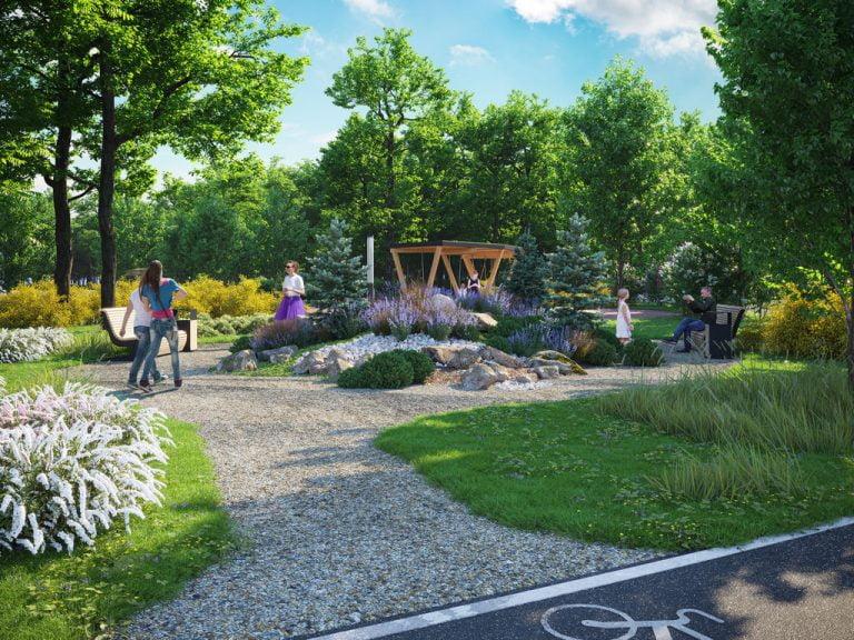 3d визуализация парка